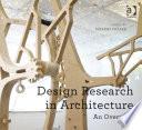 Design Research in Architecture Book