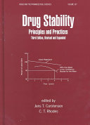 Drug Stability, Third Edition, Revised, and Expanded