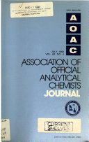 Journal of the Association of Official Analytical Chemists
