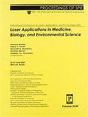 Laser Applications in Medicine  Biology  and Environmental Science