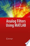 Analog Filters using MATLAB Book