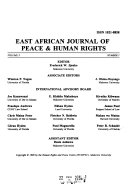 East African Journal Of Peace Human Rights