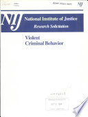 Violent Criminal Behavior