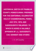 Historical Sketch Of Franklin County Pennsylvania PDF