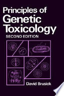 Principles Of Genetic Toxicology Book PDF