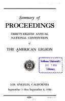 Summary of Proceedings     Annual National Convention of the American Legion