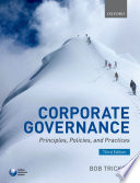 """""""Corporate Governance: Principles, Policies, and Practices"""" by R. I. (Bob) Tricker, Robert Ian Tricker"""