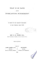 What is of Faith as to Everlasting Punishment  Book PDF
