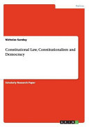 Constitutional Law Constitutionalism And Democracy