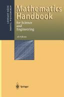 Mathematics Handbook for Science and Engineering
