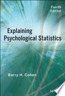 Explaining Psychological Statistics Book