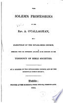 Collection Of Nineteenth Century Pamphlets On The Subject Of Bible Societies In Ireland