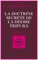 Pdf La Doctrine secrète de la déesse Tripurã Telecharger
