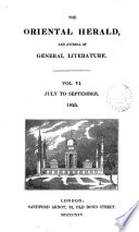 The Oriental Herald And Colonial Review Ed By J S Buckingham
