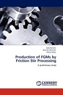 Production of Fgms by Friction Stir Processing