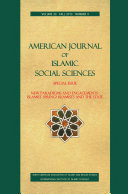 American Journal of Islamic Social Sciences 30:4