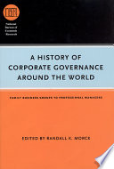 A History of Corporate Governance around the World