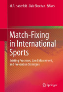 Pdf Match-Fixing in International Sports Telecharger