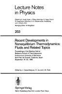 Recent Developments in Nonequilibrium Thermodynamics