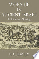 Worship in Ancient Israel Book PDF