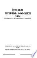 Report of the Sinhala Commission