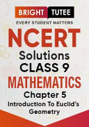 NCERT Solutions for Class 9 Mathematics Chapter 5 Introduction to Euclid   s Geometry