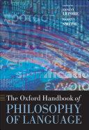The Oxford Handbook of Philosophy of Language Book