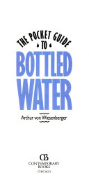 The Pocket Guide to Bottled Water Book