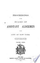 Proceedings of the Board of Assistant Aldermen of the City of New York