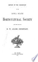 Report of the Iowa State Horticultural Society  for the Year