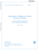 Responding to afghanistan's opium economy challenge
