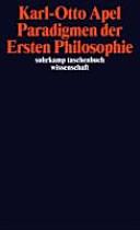 Paradigmen der Ersten Philosophie: zur reflexiven - ...