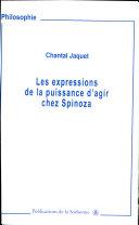 Les expressions de la puissance d'agir chez Spinoza