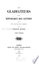 Préface. François Filelfo ou Philelphe. Poggio. Laurent Valla. Jules-César Scaliger