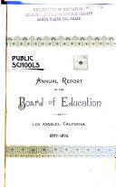Annual Report of the Board of Education and Superintendent of City Schools