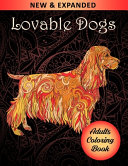 Lovable Dogs Adults Coloring Book