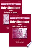 """Modern Pharmaceutics, Two Volume Set"" by Alexander T. Florence, Juergen Siepmann"