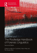 Pdf The Routledge Handbook of Forensic Linguistics