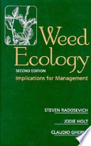 Weed Ecology