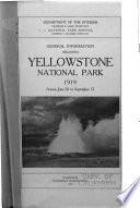 General Information Regarding Yellowstone National Park Book PDF