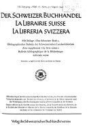 Der Schweizer Buchhandel