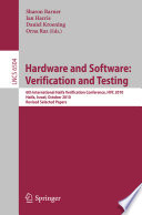 Hardware and Software: Verification and Testing