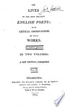 The Lives of the Most Prominent English Poets  : With Critical Observations on Their Works , Band 2