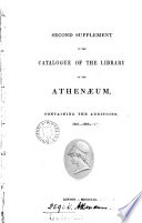second supplement to the catalogue of the library