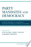 Party Mandates And Democracy