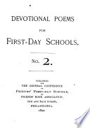 Devotional Poems for First day Schools