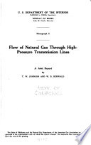 Flow of Natural Gas Through High-pressure Transmission Lines