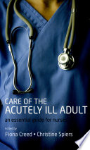 Care of the Acutely Ill Adult Book