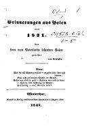Erinnerungen aus Polen von 1831, etc. [Verses.]
