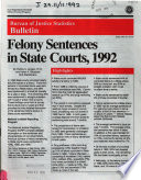 Felony Sentences In State Courts